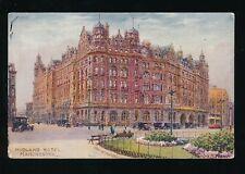 Lancashire MANCHESTER Midland Hotel LMS Railway Tuck artist Charles E Flower PPC