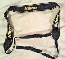 Official Nikon AN-DC1 Black & Yellow Camera Strap used w SLR, DSLR 1&2 & more