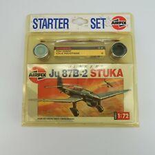 Vintage 90s Airfix WWII ju 87B-2 STUKA 1/72 Scale Plastic Model Kit Starter Set