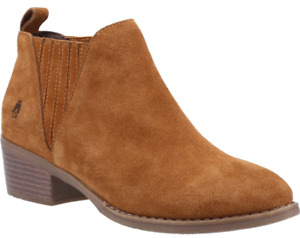 Hush Puppies Isobel Womens Tan Casual Smart Chelsea Pull On Ankle Boots