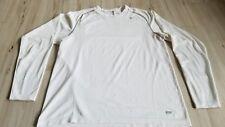 Nike pro Men sz L large half zip pullover long shirt top running active white