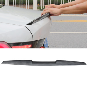 """47"""" Car Rear Wing Lip Spoiler Carbon Style Tail Trunk Roof Trim Sticker Decor"""