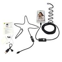 Quality ! 7mm Android hard tube USB Endoscope Snake Borescope Inspection Camera