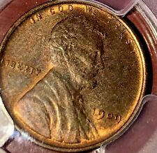 1909 toned Lincoln penny PCGS graded MS65RB