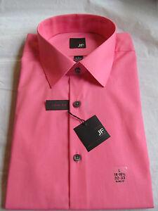 NWT Men's J.Ferrar LONG SLEEVE DRESS SHIRT sz 16-16 1/2 32-33 Slim Fit Pink