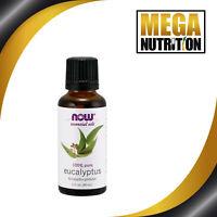 NOW Foods Pure Essential Oils Eucalyptus 30ml   Mind Mental Focus Revitalizing