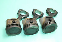 3x Mercedes Benz W123 C123 Piston with Connecting Rod M102 Motor 102980 136PS