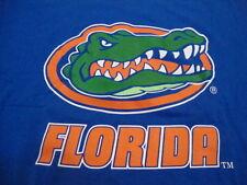 NCAA Florida Gators College University Sports Fan School Blue T Shirt XL