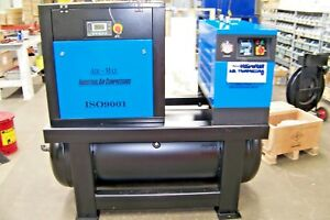 Air-Max  10hp. Rotary Screw Air Compressor dryer/filters/120T  12 Year warranty