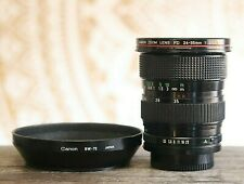 Canon Zoom Lens FD 24-35mm f3.5 L Series, BW-72 Hood, for AE1 A1 F1 AT F1N P