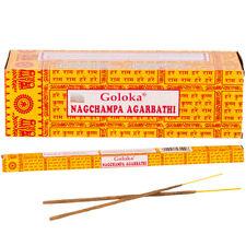 Boîte de 8 bâtonnets d'encens Nag Champa Goloka