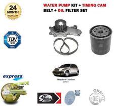 FOR CHRYSLER PT CRUISER 2.0i 2000-2004 WATER PUMP + TIMING CAM BELT + OIL FILTER