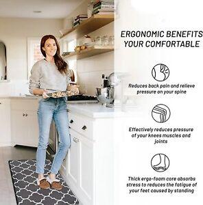 Anti-Fatigue Kitchen Mat Cushioned Waterproof Runner Non-Slip Comfort Floor Mat
