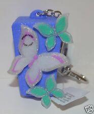 Bath Body Works Purple Butterfly Light Up Pocketbac Holder Sanitizer Keychain