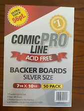 More details for silver ultra thick 56pt comic book backing boards. ***free postage***