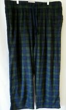 Merona Mens Lounge Sleep Pants Green Navy Plaid Size XXL #9950