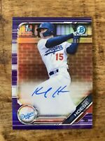 KODY HOESE *2019 Bowman Chrome Draft 1st RC Auto Purple Refractor /250 Dodgers