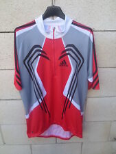 Maillot cycliste ADIDAS cycling shirt jersey camiseta rouge noir sport L