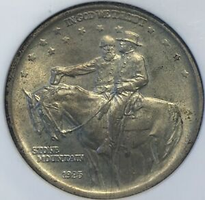 1925 Stone Mountain Commemorative Half Dollar MS 6 NGC.