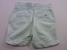 106 WOMENS NWOT DIESEL RELAXED FIT PALE OLIVE WASH PINSTRIPE SHORTS 28 $170 RRP.