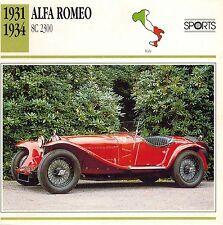 "ALFA ROMEO 1931-1934  ""8C 2300"" ADVERTISING BROCHURE"