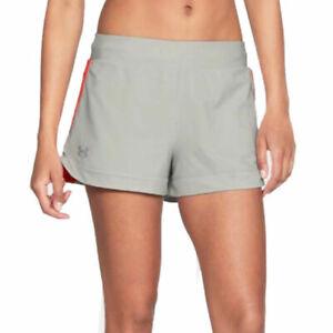Under Armour UA HeatGear Speedpocket 2 In 1 Ladies Grey Sports Running Shorts