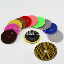 "11x 4"" Diamond Polishing Pads Grinding Disc For Granite Marble Concrete Stone UK"