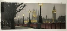 London, Southbank, Houses of Parliament large photo in canvas