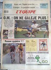 L'Equipe Journal 15/3/1988; Sénac oui, Tigana/ Téléballe/ Pensec numéro 1/ Blanc