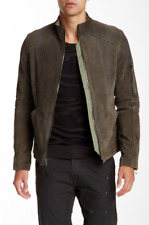 Field Scout Mens Olive Genuine Calf Suede Leather Jacket Sz XL 3229