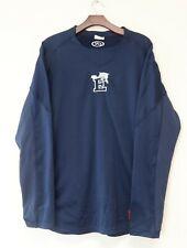 Vintage Rawlings Long-Sleeve Blue Polyester Large Men's Baseball Jersey