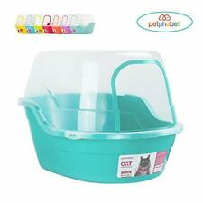 New listing Petphabet Jumbo Hooded Cat Litter Box, Extra Large, Teal