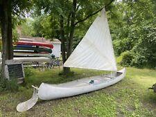 17 Foot Sailing Grumman Doubled End Canoe Aluminum Nice Original Condition