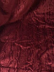 "Vintage Pair Of Rich Claret Red Velvet Curtains 68"" L x 107"" W"