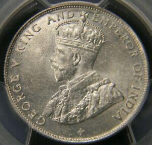 Straits Settlements 1920 50 cents PCGS MS 62