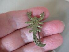 Gilt Lobster Scorpion Brooch Pin Antique Vintage Victorian Nouveau English Brass