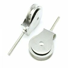 Umlenkrolle / Vogelrolle / Seilrolle mit Metrischem Gewinde M6 Seild,- 9mm