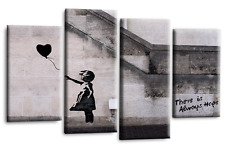 BANKSY RED BALLOON GIRL CANVAS WALL ART PICTURE PRINT LARGE SET 11