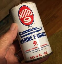 antique oil can litho vtg NITRO 9 marine engine motor auto OLD GRAPHICS