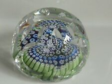 Beautiful WHITEFRIARS 30 Facets Paperweight 1978 Monk Date Cane EC