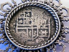 ANTIQUE MEXICAN ? SPANISH ? SOLID SILVER REALES PIECE OF EIGHT COIN