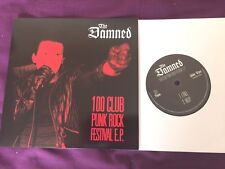 "The Damned ‎– 100 Club Punk Rock Festival 7"" E.P NEAR MINT!"