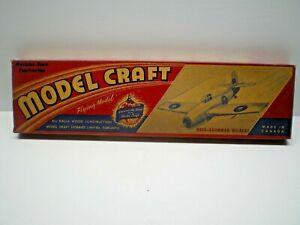 Vintage 1940's MODEL CRAFT HOBBIES GRUMMAN WILDCAT KIT# 50F8 Balsa wood