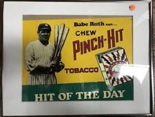 Babe Ruth- Framed Old Chewing Tobacco Tin Sign