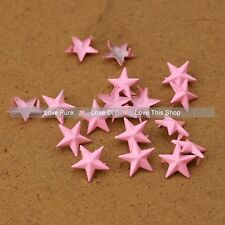 200pcs 15mm Pink Star Rivet Spike Punk Bag Belt Leathercraft Star DIY  Rivets