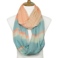 Light Orange and Multi Infinity Scarf