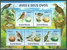 GUINEA BISSAU  2013  BIRDS AND THEIR EGGS  SHEET MINT NH