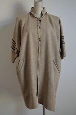 Handmade 100% Raw Virgin Wool Southwestern Blanket Cape Coat Kimono Poncho Wrap