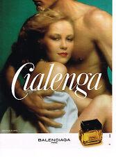 PUBLICITE ADVERTISING 044  1977  CIALENGA  parfum BALENCIAGA