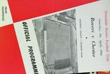 Doncaster Rovers V Chester Football Programme 1966 9th April